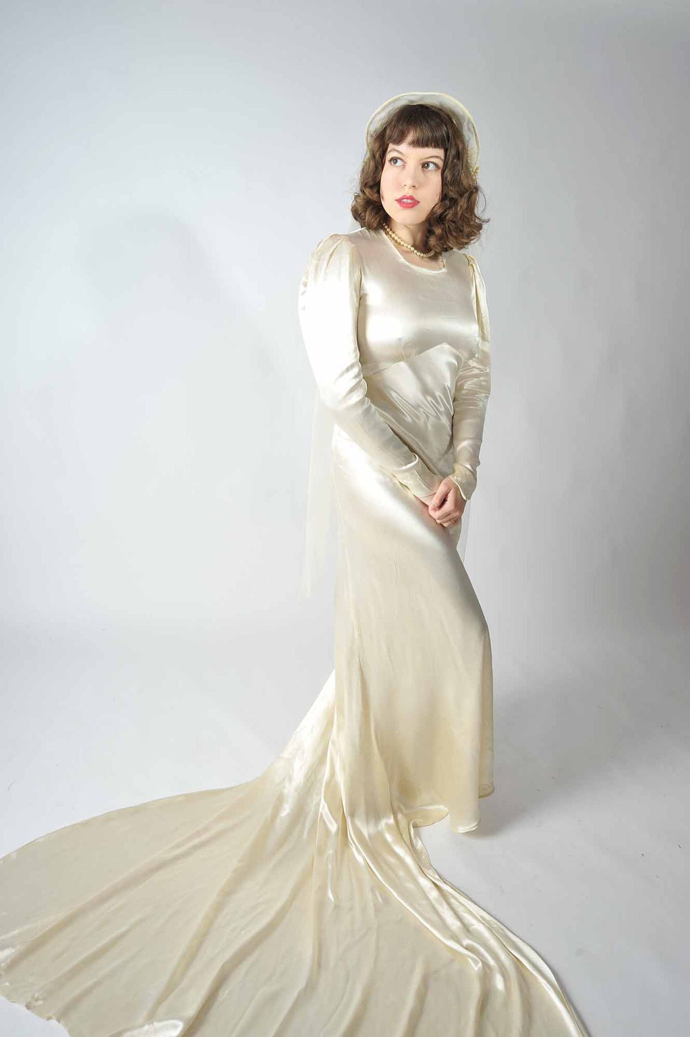 30 Off Christmas Sale Vintage 1930s Wedding Dress By