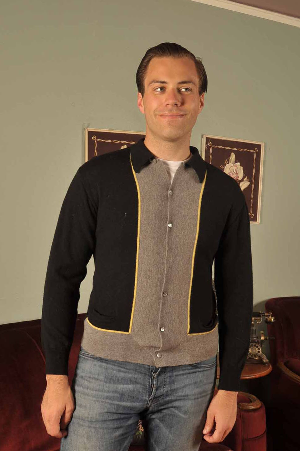 Vintage 1960s Sweater // Mens Fashion at Fab Gabs: The