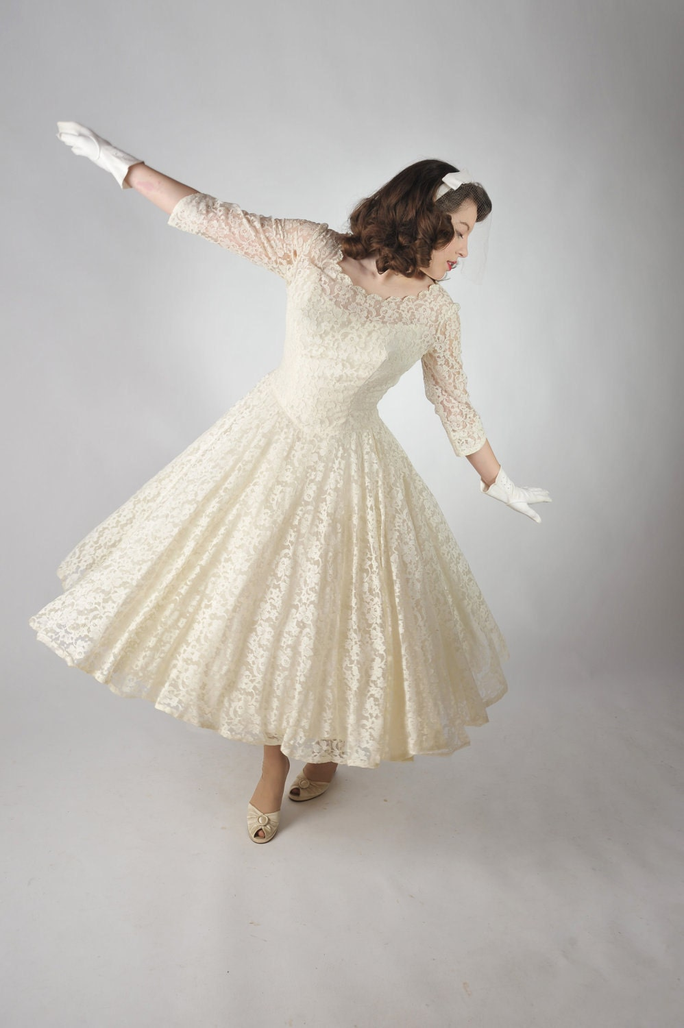 Vintage Wedding Dresses From The 1950 S : Reserved for ivy vintage s wedding dress the dreammaker