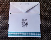 WESTIE West Highland Terrier dog notecards card gift hand crafted 5 pack