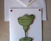 MARGARITA note cards gift card 5 pack handcrafted