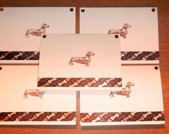 Dachshund DOXIE hand designed note cards card 5 pack rescue group