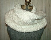 Handknit, white mobius scarf/cowl - RESERVED