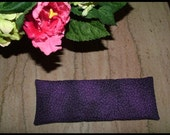 Lavender and buckwheat eye pillow - purple, floral print - size medium