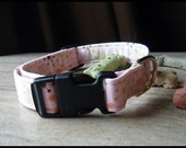 RESERVED FOR CHLOE - Retro, pink, adjustable dog collar, size L