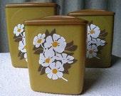 SUPER SALE - Vintage kitchen canister 3-piece set -