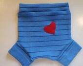 BLUE STRIPEY diaper cover S/M eco friendly