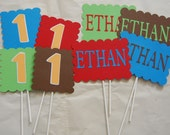 Name and age cake Toppers/Centerpieces