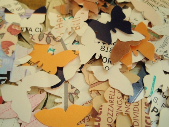 Upcycled Junk mail butterflies PIF