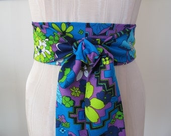 Retro Obi Belt by ccdoodle on etsy - made to order