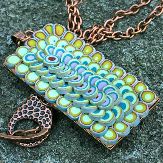 Sushi Platter on Copper Necklace