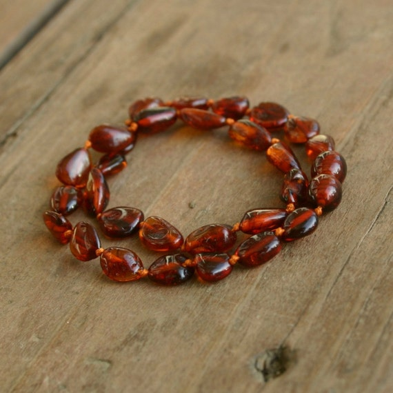 Warm Cherry Baltic Amber Teething Necklace FREE SHIPPING