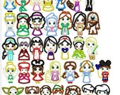 Set of THIRTY-FIVE Cutie Little Princess and Princes Designs, Multiple Sizes, including 4 inch