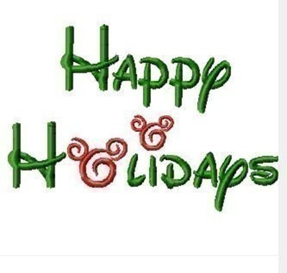 Merry Christmas, Happy Holidays, Merry Christmouse, FIVE phrases Mister Mouse Machine Embroidery Designs- multiple sizes, including 4 inch