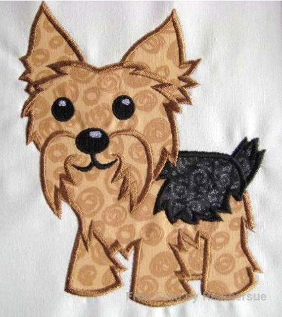 yorkie machine embroidery designs