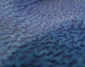 Unique blue design lambskin leather - a full 6 plus square foot hide