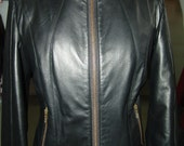 A most cool and short fitted lambskin black leather jacket - made to measure for you - Sizes XS to XL