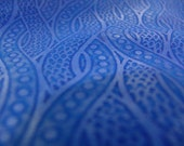 Peacock Blue absolutely breathtaking lambskin printed Italian soft leather - a  6 plus square feet