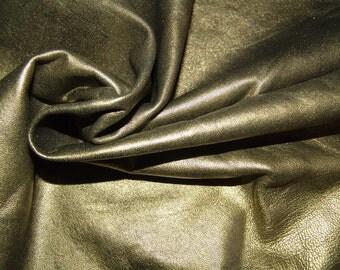 Smokey GOLD metallic lambskin soft leather - a 6 plus square foot hide