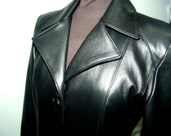 3-buttons ladies unique leather jacket  - S to XXL available