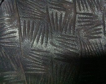 Metallic Chocolate Brown lambskin leather in a fun design - a full 6 plus square foot hide