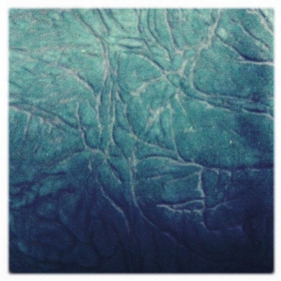 RESERVED for ALI - Lambskin italian lux leather, GREEN nervous system imprint leather, a 6 square foot piece