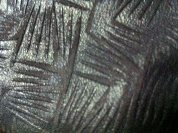 Metallic Chocolate Brown lambskin leather in a fun design - a full 6 square foot hide