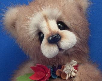 Custom Orders Only ... Mink OOAK Artist Teddy Bear: Mink Teddy Bear custom made from your mink stole