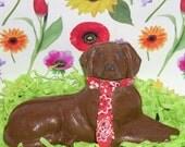 Solid Chocolate 3 D Labrador Retriever