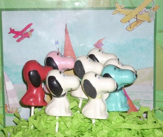 Chocolate Beagle Lollipops