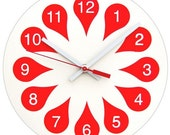 Reserved for Jess - Red Petal Clock