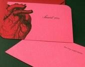 I Heart You - Handmade Anatomical Card