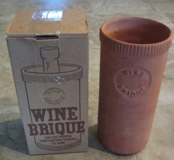 Wine Brique Wine Cooler Wine Chiller Terra Cotta Natural