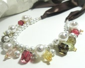 Ribbon Cluster Necklace