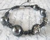 Hematite Shambala Bracelet