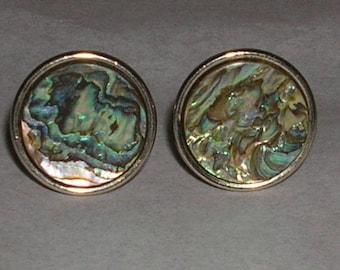 Abalone Shell  Cuff Links