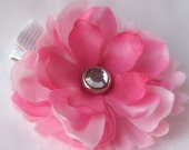FREE SHIPPING Small Pink Flower Clip or Snap