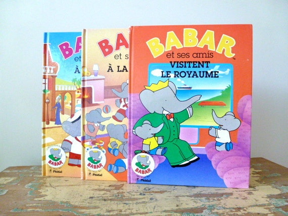 French Babar Book Set