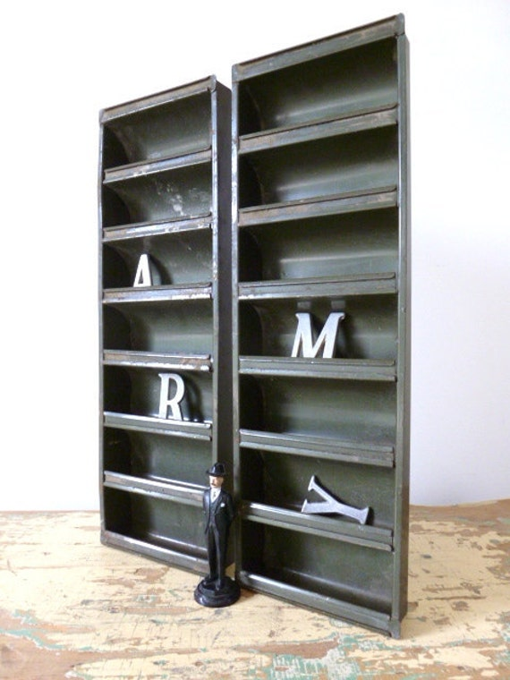Industrial Metal Parts Storage Bins By Tippleandsnack On Etsy