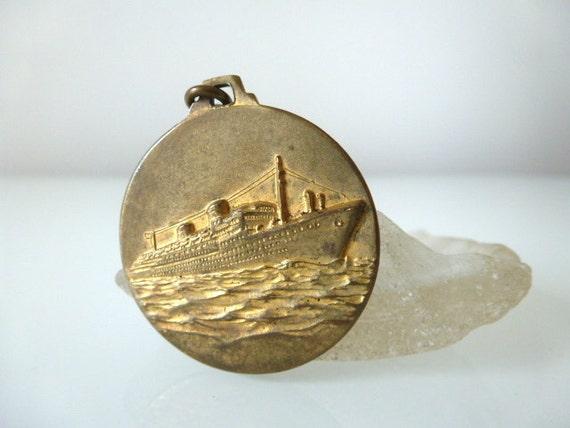M.S. Italia Steamship Key Fob