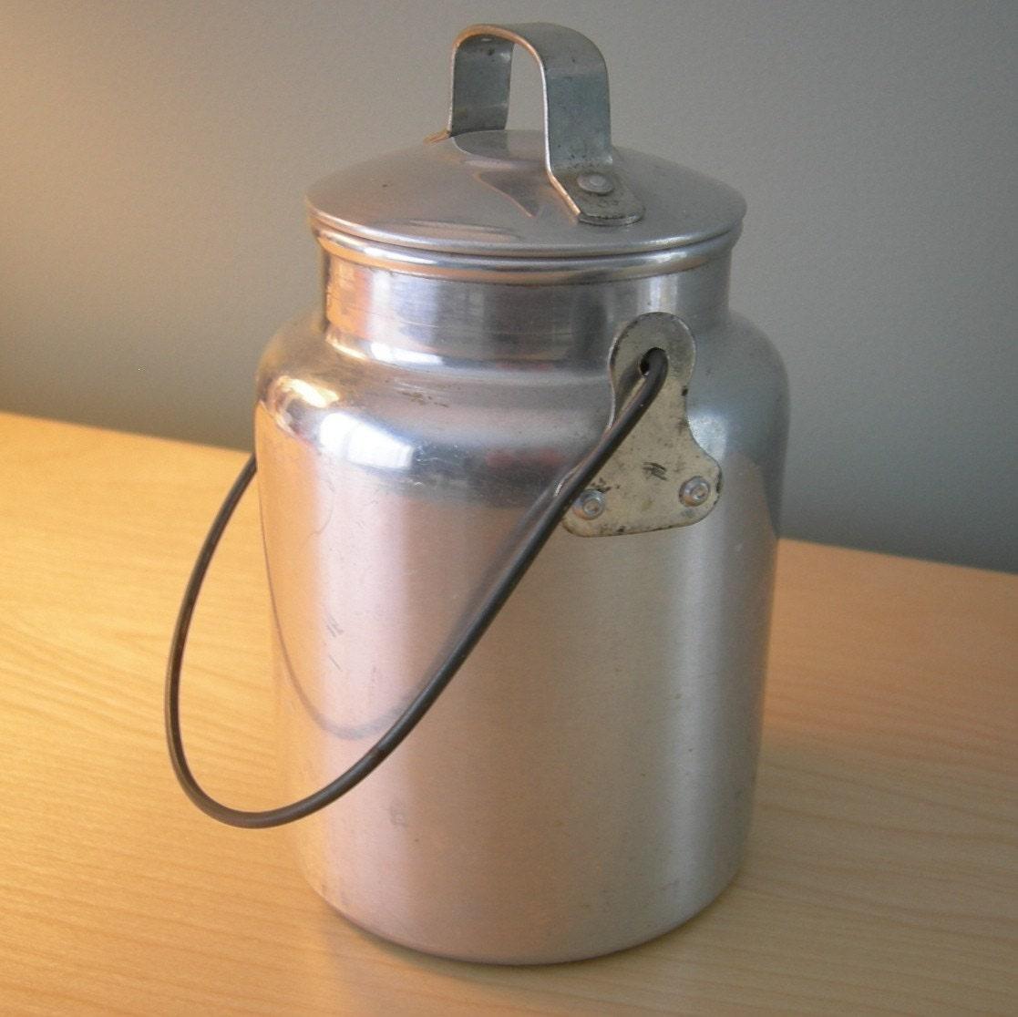 Vintage Aluminum Milk Pail by tippleandsnack on Etsy