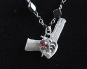Evidence of a Crime of Passion Necklace Vintage Repurposed Necklace