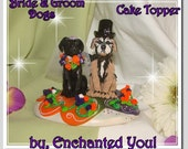 Dog Wedding Cake topper, by Enchanted You