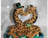 Giraffe, Kissing Giraffes Wedding Cake Topper