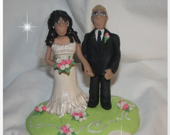 Personalized Wedding Cake Topper  Enchanted You
