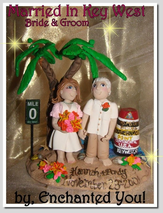 key west wedding cake toppers key west wedding cake topper personalized by enchanted 16637