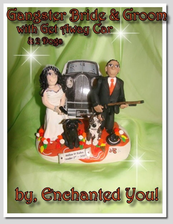 gangster wedding cake toppers unavailable listing on etsy 14643