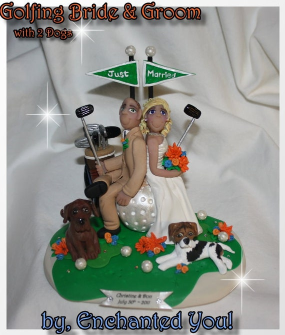 wedding cake toppers golf theme golf wedding cake topper personalized by enchantedyou54449 26482