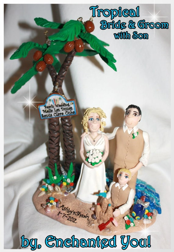 tropical wedding cake toppers unavailable listing on etsy 21280