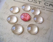 10...12mm Domed Glass Cabochons. Great for  Rings, and pendant settings.